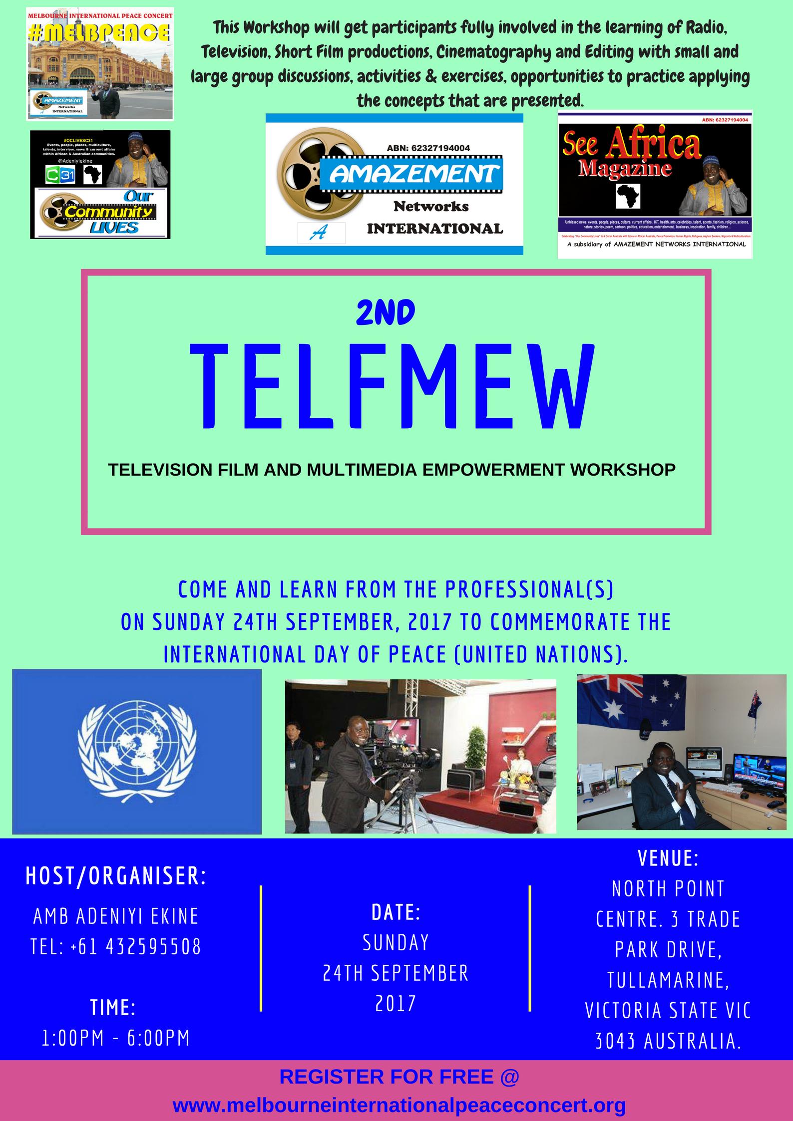 2nd TELFMEW on Sunday 24th September 2017