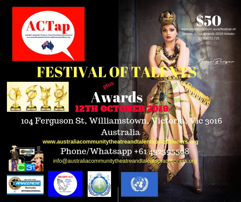 ACTap - Festival of Talents Poster - Nom