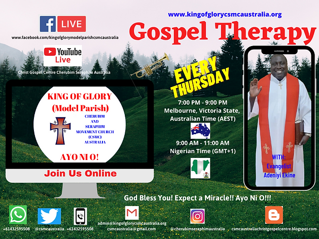 Gospel Therapy - King of Glory (model Pa