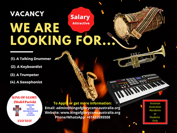 Vacancy - The King of Glory - Talking Dr