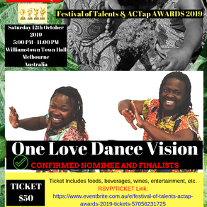 One Love Dance Vision Confirmed as Nominee & Finalist for Festival of Talents & ACTap Awards 2019