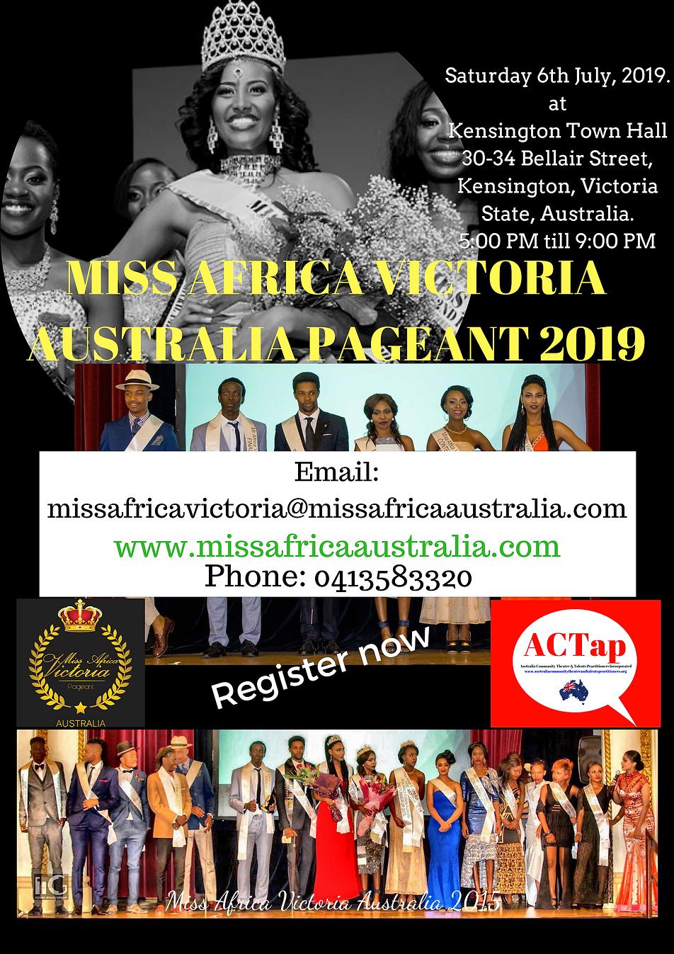 Miss Africa Victoria Australia (MAVA) 20