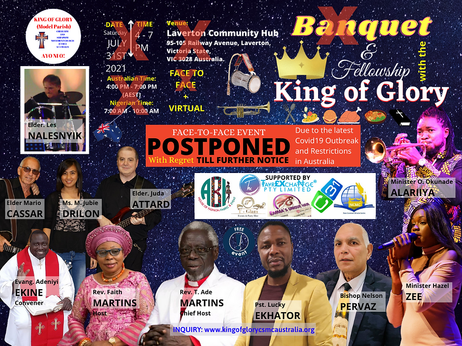 POSTPONED Official Media of Banquet With The King of Glory - Media July 31st 2021 .png