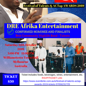 DRE Afrika Entertainment  & Dare Temitope Daniel Confirmed as Nominee & Finalist