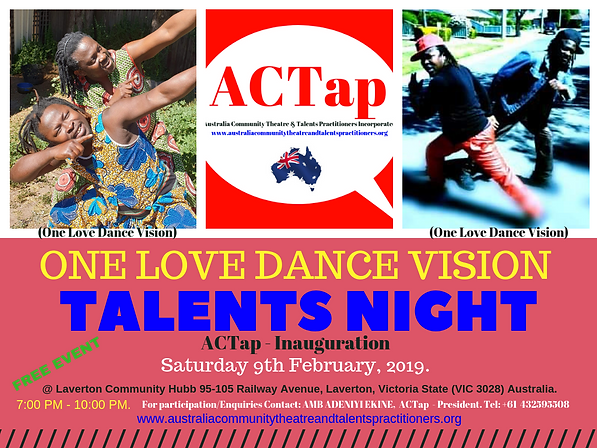 ACTap - Australia Community Theatre and