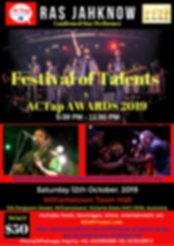 ACTap FesTal19 Confirmed Talent -Ras Jah