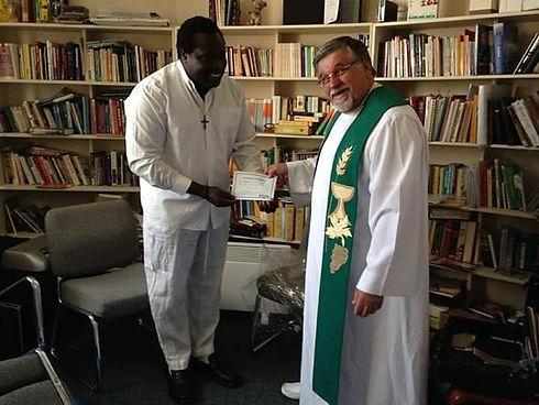 Adeniyi Ekine and Rev John Izvernariu on