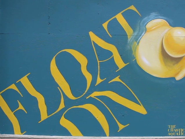 Float On Lost Lake Cafe Mural