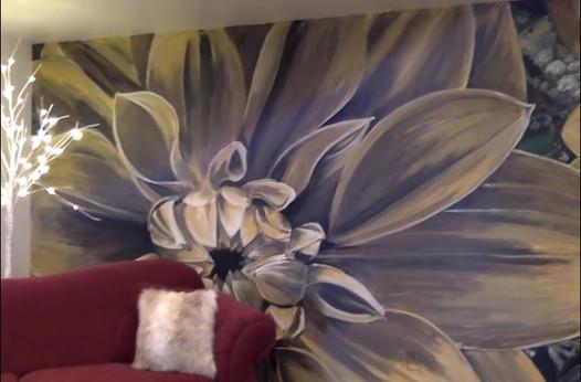 Dahlia Mural