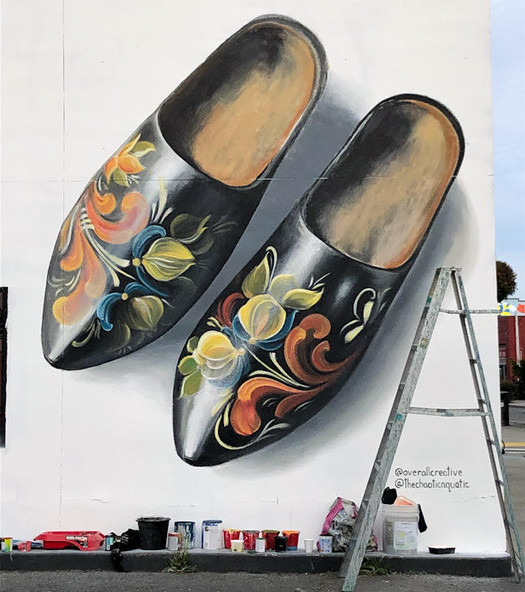 Clogs Mural