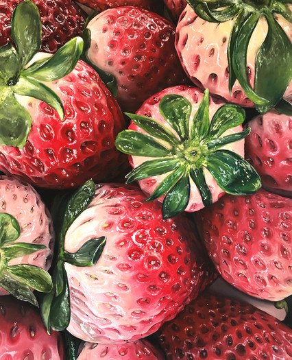 'Strawberries', 5 x 4 feet, acrylic on canvas
