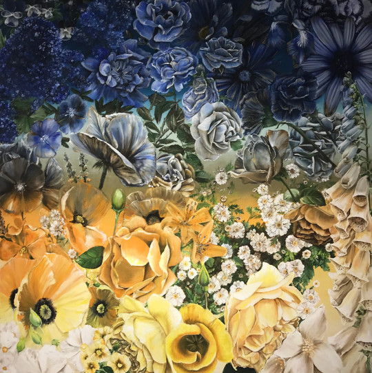 'Blossom', 5 x 5 feet, acrylic on canvas