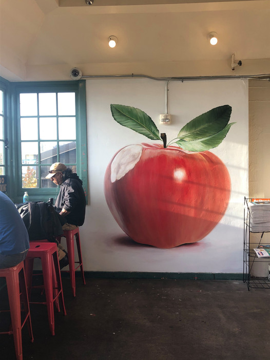 Pike Place Apple Mural
