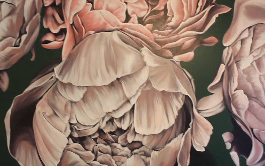 Peonies Mural