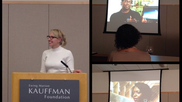Presenting at the Kauffman Foundation