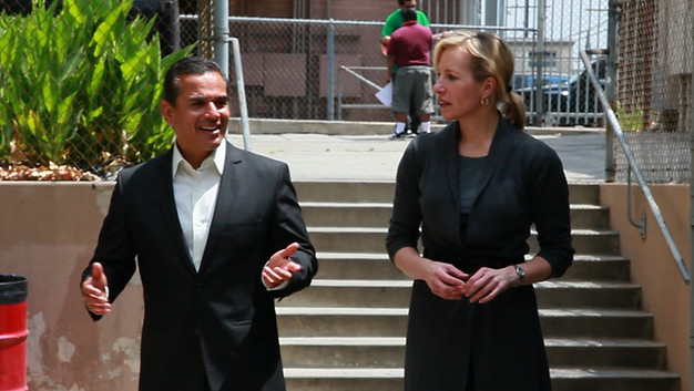 On the Loudspeaker: Mayor Villaraigoso