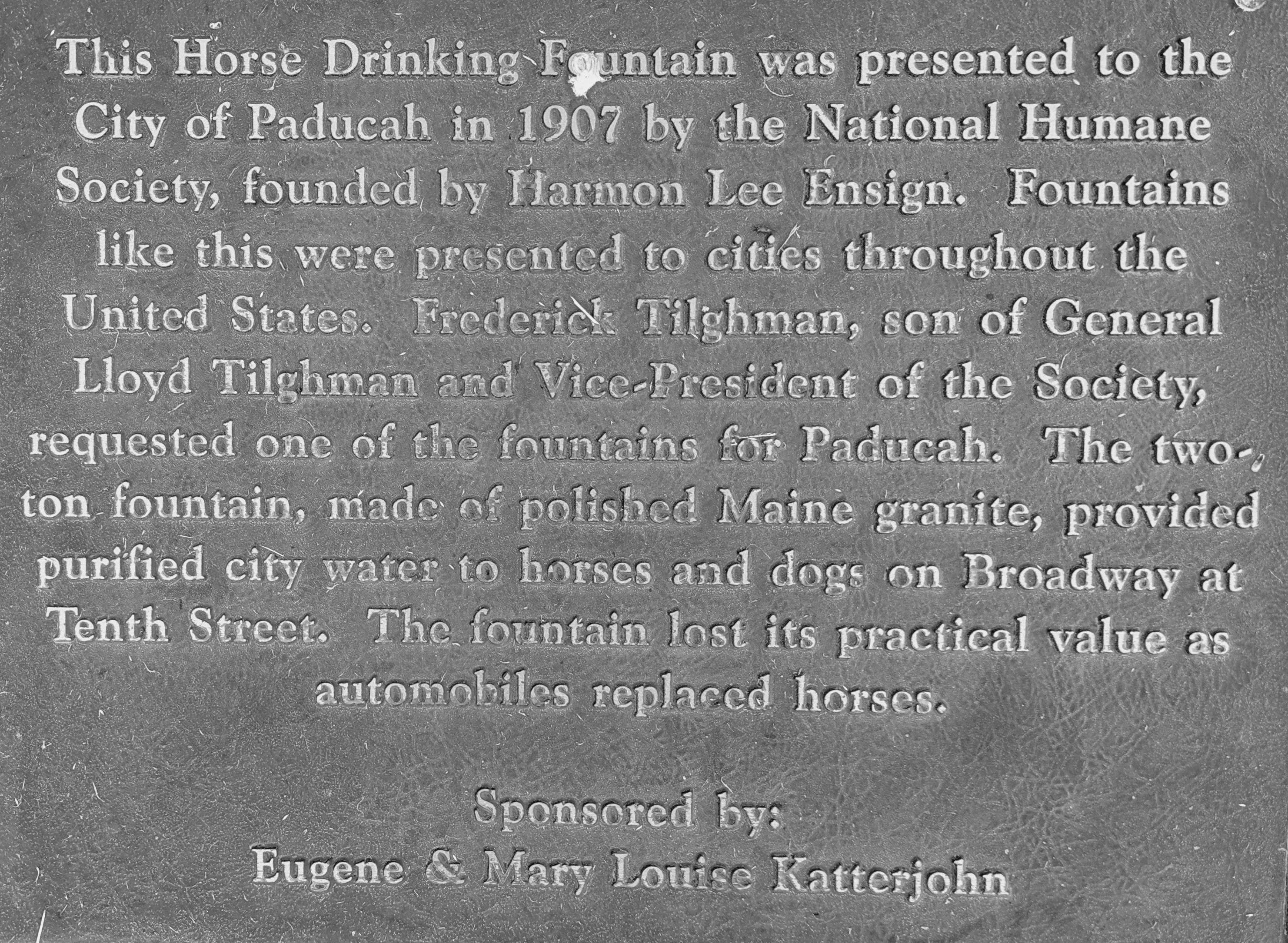 Horse Drinking Fountain