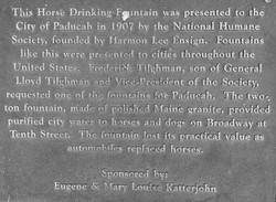 Horse Drinking Fountain