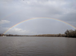 Rainbow over Mobile River