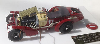 1:43-Scale, Super-detailed, Fully-opening, Hand-built Model of the Alfa Romeo 8C 2300, Winner of Le Mans 1933