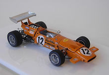 1:43-Scale, Super-detailed, Hand-built Model of the McLaren M14A, 1970 Monaco Grand Prix