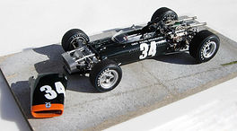 1:43-Scale, Super-detailed, Hand-built Model of the BRM P115 H-16, 1967 Italian Grand Prix