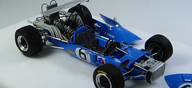 1:43-Scale, Super-detailed, Hand-built Model of the Matra MS11, Italian Grand Prix 1968