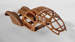 Hand-built, 1:43-Scale, 'Wood' 'Bodybuck' Model of the Bugatti T57SC Atlantic, 1936