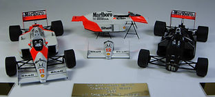 Two 1:43-Scale, Super-detailed, Hand-built Models of the McLaren Honda MP4/4 by Pierre Lauger, LP Creation