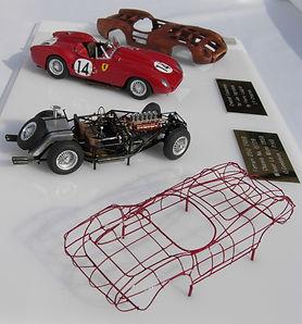 Hand-built 1:43 Scale 'Bodybuck' Models of the Ferrari 250 TR58, 1958 World Sportscar Championship
