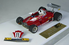 1:43-Scale, Super-detailed, Hand-built Model of the Ferrari 312 T2, 1977 German Grand Prix by Pierre Laugier