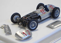1:43-Scale, Super-detailed, Fully-opening, Hand-built Model of the Mercedes W154, 1939