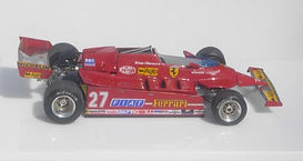 1:43-Scale, Super-detailed, Hand-built Model of the Ferrari 126 CK, 1981 USA West Grand Prix, Long Beach