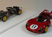 Two, 1:43-Scale, Super-detailed, Hand-built Models of the Ferrari Dino 206 S Spyder, 1966 1000km Nürburgring