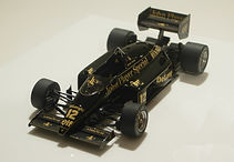 1:43-Scale, Super-detailed, Hand-built Model of the Lotus Renault 98T, 1986 Detroit (USA East) Grand Prix