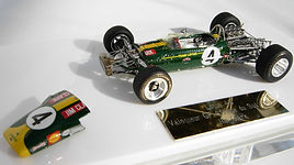 Two 1:43-Scale, Super-detailed, Hand-built Models of the Lotus Ford 49