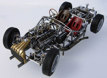 Maserati 450S Scratch-built, 1:43-Scale, Super-detailed Chassis Model