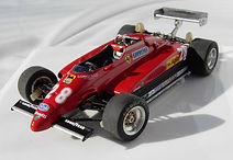 1:43-Scale, Hand-built Model of the Ferrari 126 C2, Winner of the 1982 Dutch Grand Prix