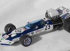 1:43-Scale, Super-detailed, Hand-built Model of the Surtees Ford TS9, 1971 BritishGrand Prix