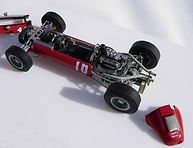 1:43-Scale, Super-detailed, Opening, Hand-built Model of the Ferrari Dino 246 T F1 Special '0006', Monaco Grand Prix 1966