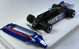 1:43-Scale, Super-detailed, Hand-built Model of the Lotus Ford 88, 1981 USA West Grand Prix by Pierre Laugier
