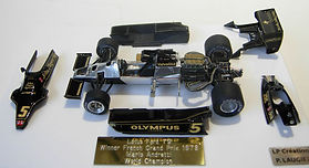 1:43-Scale, Super-detailed, Hand-built Model of the Lotus Ford 79, Winner of the 1978 French Grand Prix