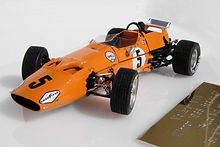 1:43-Scale, Super-detailed, Hand-built Model of the McLaren M7A, Winner of the 1968 Belgian Grand Prix