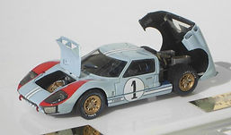1:43-Scale, Hand-built Model of the Ford GT MkII, Le Mans 1966