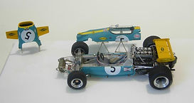 1:43-Scale, Super-detailed, Hand-built Model of the Brabham Ford BT33, 1970 Monaco Grand Prix