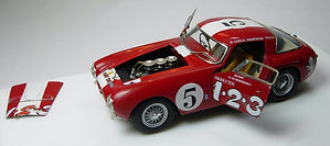 1:43-Scale, Super-detailed, Opening, Hand-built Model of the Ferrari 250 MM, Carrera Panamericana 1953