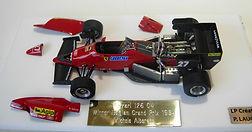 1:43-Scale, Super-detailed, Hand-built Model of the Ferrari 126 C4, Winner 1984 Belgian Grand Prix