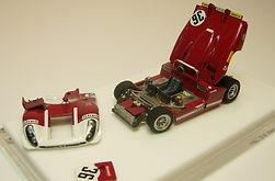 1:43-Scale, Hand-built Model of theAlfa Romeo 33/3, Le Mans 1970
