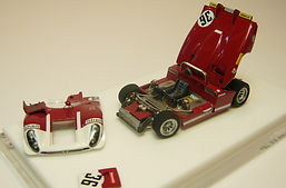 1:43-Scale, Hand-built Model of the Alfa Romeo 33/3, Le Mans 1970