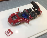 1:43-Scale, Hand-built Model of the Ferrari Dino 246 SP, Winner Targa Florio 1961